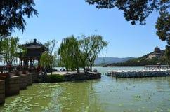 Озеро Kunming увиденное от летнего дворца Китая Стоковая Фотография