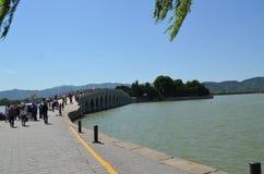 Озеро Kunming увиденное от летнего дворца Китая Стоковые Фотографии RF