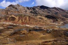 Озеро Kupup в долине Kupup, Сиккиме, Индии стоковое фото