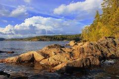 Озеро Ladoga, Karelia, Россия Стоковые Фото