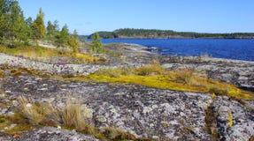 Озеро Ladoga, Karelia, Россия Стоковое Изображение