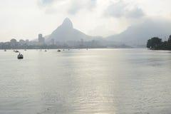 Озеро Lagoa рекреационный центр для бразильян и туристов Стоковое Изображение