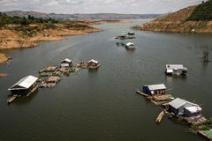 Озеро Lak, мамы Thuot Buon, провинция Dak Lak, Вьетнам стоковая фотография rf
