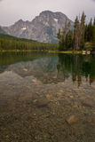 Озеро Leigh на грандиозном национальном парке Teton Стоковые Фото