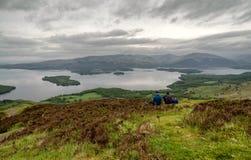 Озеро Loch Lomond, Шотландия стоковое изображение rf