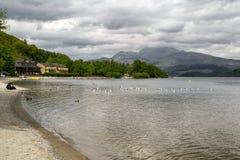 Озеро Loch Lomond, Шотландия стоковые фото