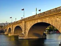 озеро london havasu моста стоковое изображение rf