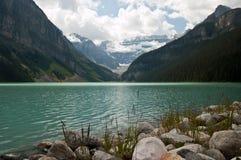 озеро louise alberta Канады Стоковые Изображения RF