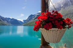 Озеро Lovatnet в Норвегии в Европе Стоковые Фотографии RF