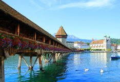 озеро lugano Швейцария Стоковое Изображение RF