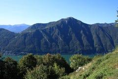 озеро lugano Стоковое Фото