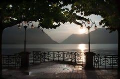 Озеро Lugano Стоковое Изображение RF