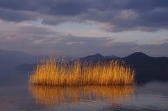 Озеро Lugu, Юньнань, Китай Иллюстрация вектора