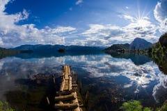 Озеро Lugu Стоковые Изображения RF