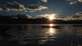 Озеро Lugu сток-видео