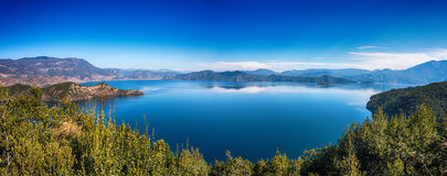Озеро Lugu Стоковое Изображение