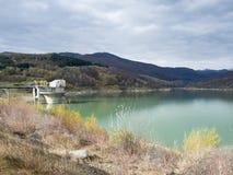Озеро Măneciu, Prahova County, Румыния Стоковое Изображение RF