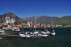 Озеро Maggiore, Италия. Feriolo, Baveno стоковые изображения