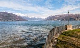 Озеро Maggiore от Germignaga Стоковые Изображения
