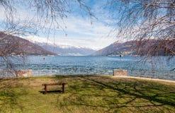 Озеро Maggiore от Germignaga Стоковое фото RF