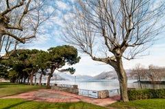 Озеро Maggiore от Germignaga Стоковая Фотография