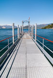 Озеро Maggiore, пристань шлюпки Laveno, Италии Стоковая Фотография