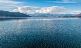 Озеро Maggiore, Ispra Стоковые Фотографии RF