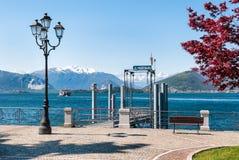 Озеро Maggiore, Laveno, Италия Стоковое Изображение RF