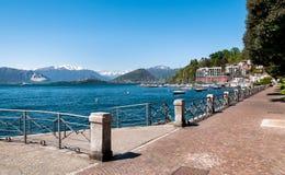 Озеро Maggiore, Laveno, Италия Стоковые Изображения