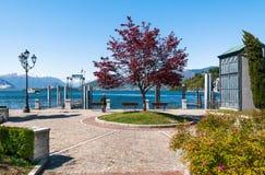 Озеро Maggiore, Laveno, Италия Стоковое Фото