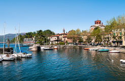 Озеро Maggiore, Laveno, Италия Стоковые Изображения RF