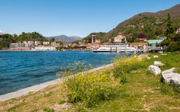 Озеро Maggiore, Laveno, Италия Стоковое фото RF
