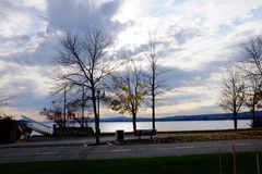 Озеро Magog Стоковая Фотография
