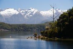 Озеро Manapouri Новая Зеландия a Стоковая Фотография RF