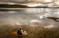 Озеро Manasarovar Тибет Стоковое Изображение RF