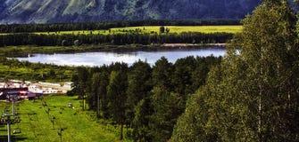 Озеро Manzherok Стоковые Фотографии RF