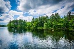 Озеро Massabesic, в Манчестере, Нью-Гэмпшир стоковые фото