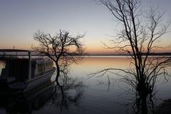 Озеро Massingir Мозамбик стоковые изображения rf