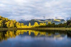 Озеро Matheson, Новая Зеландия стоковое фото