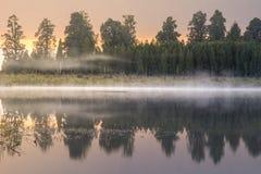 Озеро Matheson, Новая Зеландия стоковые фото