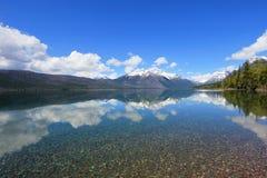 Озеро Mc Дональд в национальном парке ледника, Монтане Стоковые Изображения