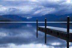 озеро mcdonald рассвета Стоковые Изображения RF