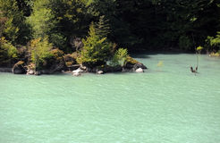Озеро Meltwater в Georgia, Европе Стоковая Фотография