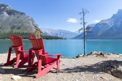 Озеро Minnewanka Стоковое Фото