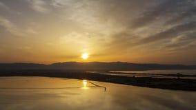 Озеро Molentargius сток-видео