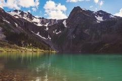 Озеро Multinskoe перед грозой Стоковое Изображение RF