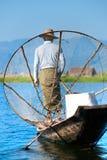 озеро myanmar inle рыболова Стоковое Фото