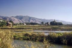озеро myanmar inle Стоковые Изображения