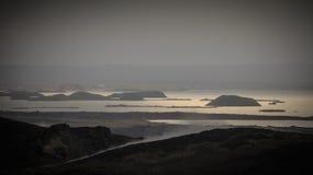 Озеро Myvatn в северо-западной Исландии Стоковое Изображение RF