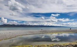 Озеро Namtso, Тибет Стоковые Фотографии RF